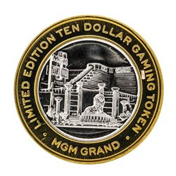 .999 Silver MGM Grand Las Vegas $10 Casino Limited Edition Gaming Token