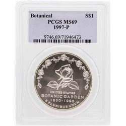 1997-P $1 Botantical Garden Commemorative Silver Dollar Coin NGC MS69