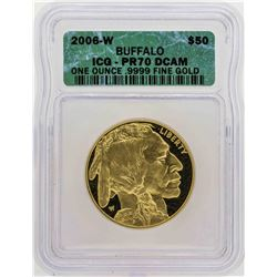 2006-W $50 American Gold Buffalo Proof Coin ICG PR70DCAM