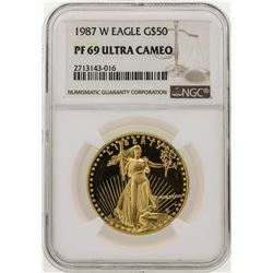 1987-W $50 American Gold Eagle Coin NGC PF69 Ultra Cameo