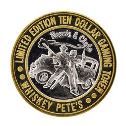 .999 Silver Whiskey Petes Casino Jean, Nevada $10 Limited Edition Gaming Token