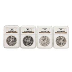 Set of 1993-1996 $1 American Silver Eagle Coins NGC MS69