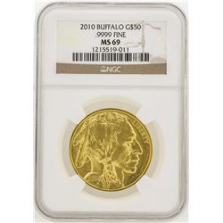 2010 $50 American Gold Buffalo Coin NGC MS69