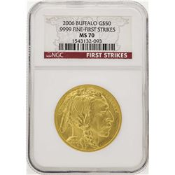 2006 $50 American Gold Buffalo Coin NGC MS70 First Strike