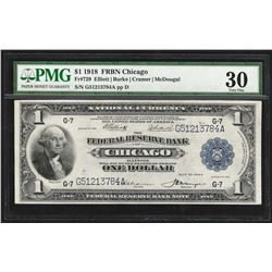1918 $1 Federal Reserve Bank Note Chicago PMG Very Fine 30EPQ