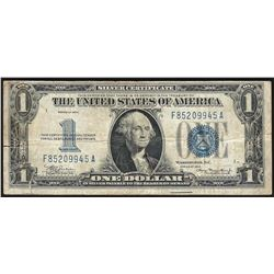 1934 $1 Funnyback Silver Certificate Note - Tears