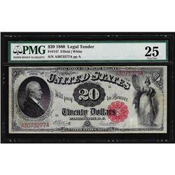 1880 $20 Legal Tender Note Fr. 147 PMG Very Fine 25