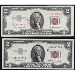Lot of (2) 1953 $2 Legal Tender STAR Notes