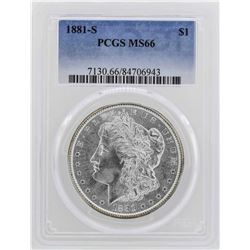 1881-S $1 Morgan Silver Dollar Coin PCGS MS66