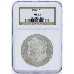 1883-S $1 Morgan Silver Dollar Coin NGC MS62