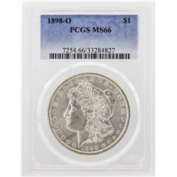 1898-O $1 Morgan Silver Dollar Coin PCGS MS66