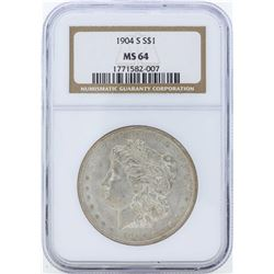1904-S $1 Morgan Silver Dollar Coin NGC MS64