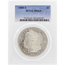 1880-S $1 Morgan Silver Dollar Coin PCGS MS64+