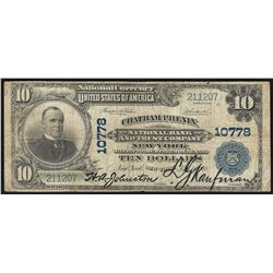 1902 $10 Chatham Phenix New York National Currency Note CH# 10778
