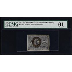 10 Cent Second Issue Fractional Currency Note PMG Uncirculated 61