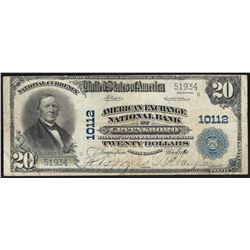 1902 PB $20 Greensboro North Carolina National Currency Note