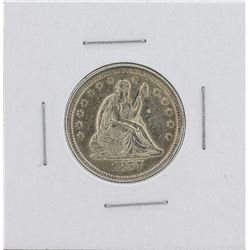 1857 Seated Liberty Silver Quarter Coin