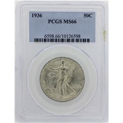 1936 Walking Liberty Half Dollar PCGS MS66