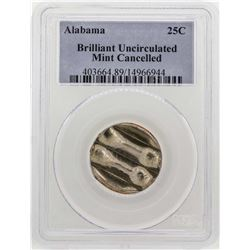 Alabama Quarter Mint Cancelled PCGS Brilliant Uncirculated