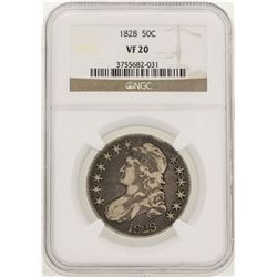 1828 Capped Bust Half Dollar Coin NGC VF20