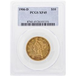 1906-D $10 Liberty Head Eagle Gold Coin PCGS XF45