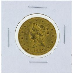 1849 No Motto $10 Liberty Head Eagle Gold Coin