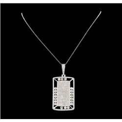 14KT White Gold 5.62ctw Diamond Pendant with Chain