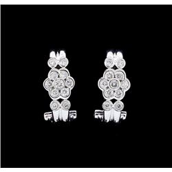 18KT White Gold 0.58ctw. Diamond Omega Back Earrings
