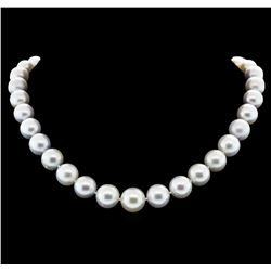 14KT White Gold 11mm South Sea Cultured Pearl Necklace
