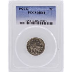 1926-D Buffalo Nickel Coin PCGS MS64