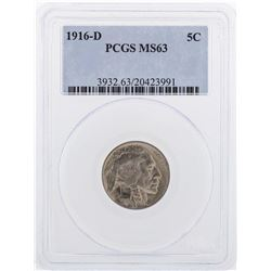 1916-D Buffalo Nickel Coin PCGS MS63