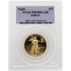 1989-P $25 American Gold Eagle Proof Coin PCGS PR69DCAM