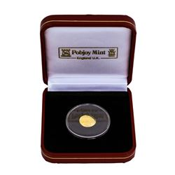 2010 Falkland Islands 1/25 Crown Gold Coin