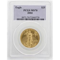 2004 $25 American Gold Eagle Coin PCGS MS70