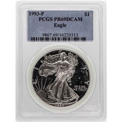 1993-P $1 American Silver Eagle Proof Coin PCGS PR69DCAM