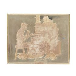Norman Rockwell Fondest Memories 1500 Grains Sterling Silver Ingot