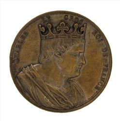 1839 Charles Le Gros King of France Bronze Medal