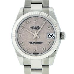 Rolex Stainless Steel Midsize Datejust Wristwatch