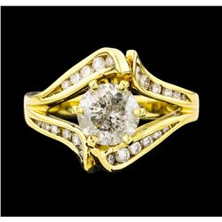 18KT Yellow Gold 1.86ctw Diamond Ring