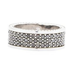 14KT White Gold Ladies 2.00ctw Black Diamond Ring