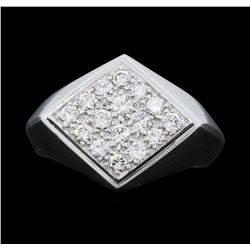Men's 18KT White Gold 1.00ctw. Diamond Ring