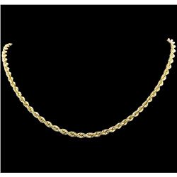 14KT Yellow Gold Regular Rope Chain