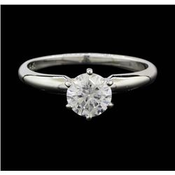 14KT White Gold 0.83ct Diamond Solitaire Ring