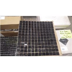 "12"" X 12"" BLACK LIMESTONE MOSAIC POLISHED 1"" X 1"", 1""  2"", 57 PCS"