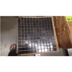 "12"" X 12"" BLACK LIMESTONE MOSAIC POLISHED 1"" X 1"", 51 PCS"