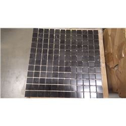 "12"" X 12"" BLACK LIMESTONE MOSAIC POLISHED 1"" X 1"", 60 PCS"