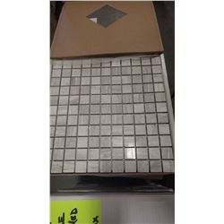 "12"" X 12"" WHITE WOOD RIDGE MOSAIC POLISHED 1"" X 1"", 50 PCS"