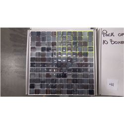 "12"" X 12"" HAND PAINTED GLASS MOSAIC POLISHED, 60 PCS"