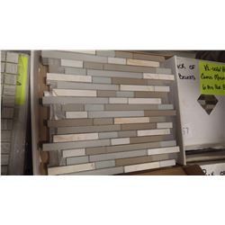 "12"" X 12"" GLASS MOSAIC - DM - 005, 60 PCS"