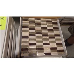 "12"" X 12"" GLASS MOSAIC - VL - 002/PM, 48 PCS"